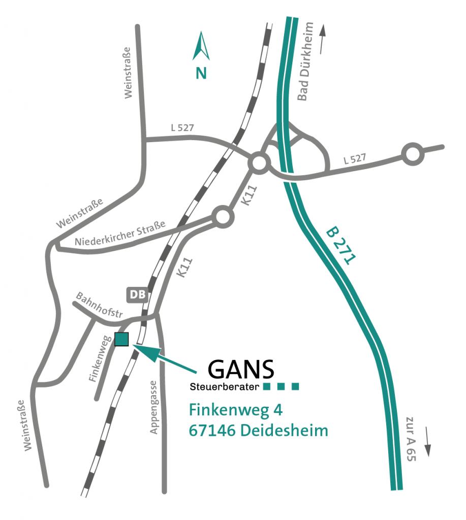 Steuerberater GANS Finkenweg 67146 Deidesheim